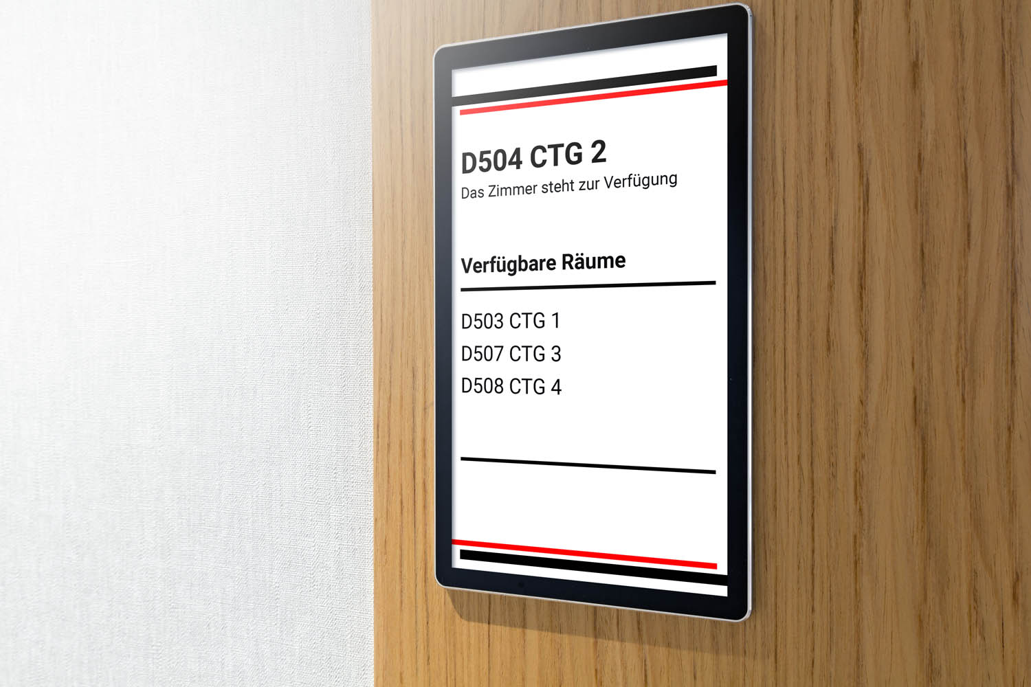 Hotel electronic doorplate touch doorbell switch with room number display